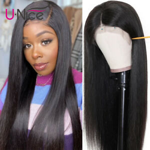 UNice Hair Brazilian Straight Human Hair 13x4 Lace Front Wigs 150% Density Full