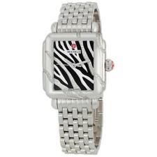 Michele Deco Safari Zebra Diamond Ladies Watch, Stainless Steel