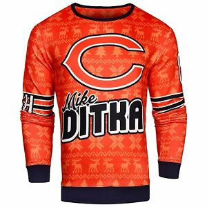 NFL Men's Chicago Bears Mike Ditka #89 Retired Player Ugly Sweater