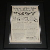 1959 Air Force vs Army Football 11x14 Framed ORIGINAL Vintage Advertisement