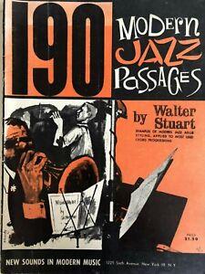 190 Modern Jazz Passages, sheet music, Walter Stuart