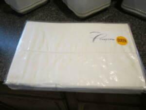 Charisma Oversized Queen Flat Sheet Beige New 600 Threads