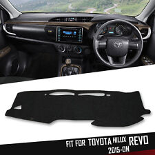 DARK GRAY DASH MAT DASHMAT CARPET COVER FOR TOYOTA HILUX REVO SR M70 M80 2015-ON