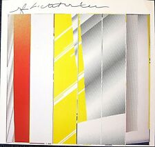 ROY LICHTENSTEIN HAND SIGNED SIGNATURE * MIRROR IN SIX PANELS * PRINT W/ C.O.A.