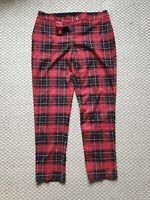 Pimkie Collection Red Check Tartan Trousers Small Size 14 Emo Rock Goth