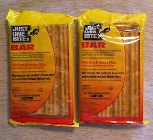 Farnam Just One Bite Bars & rat bait packs Kill rats mice rodents chipmunks 2 ea