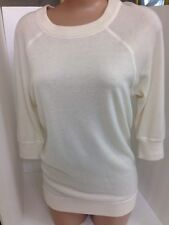 Donna Karan Top White Cashmere Size Petite