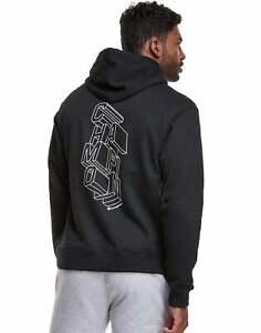 Champion Men's Athletics Powerblend Fleece Hoodie, Block Logo