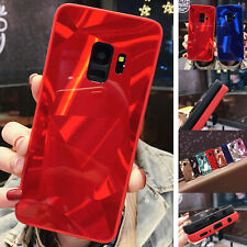 Hybrid Glass Bling Crystal Pattern Phone Case Cover For Samsung Note 20/S20+/S10