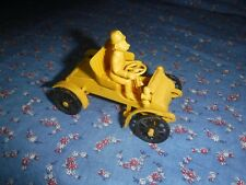 """Vintage Revell Action Miniature Yellow Auto 2 9/16"""" High Missing Some Pieces"""
