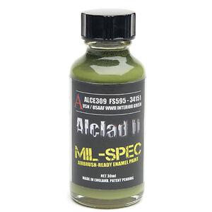 ALCLAD2, ALCE309, MIL-SPEC,USN/USAAF WWII INTERIOR GREEN,ENAMEL MATT,FS595-34151