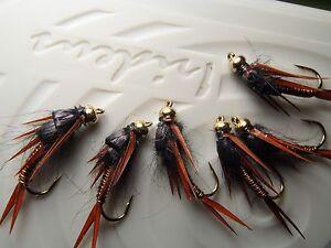 Irideus Copper Penny Grease Stonefly Trout Flies Steelhead Fly Fishing Flies