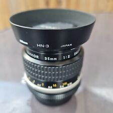 Nikon 35mm f2 AIS manual focus lens great condition