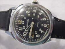 Vintage large antique Vietnam War Military WESTCLOX 24 HR 24HOUR DIAL mens watch