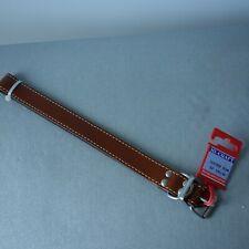 "Hi-Craft tan leather dog collar 24"" x 1"" new"