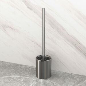 Bathroom Toilet Brush Holder Storage Shelf WC Clean Tool Stainless Steel Brushed