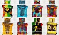 Cotton Ethnic Indian Duvet Doona Quilt Cover Boho Comforter Bedding Blanket Set