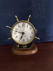 Seth Thomas ships SEASPRITE Windup wheel desk clock.