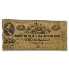 1861 $2.00 (T-38) South Strikes Down Union Vg - Sku#181712