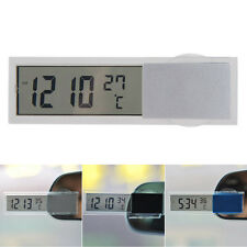 Digital LCD Clock Thermometer With Suction Cup Auto Car Vehicle Monitor