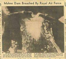 Guy Gibson Barnes Wallis  Dambusters Raid Destroys Mohne Dam May 19th 1943 B11