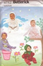 Butterick Sewing Pattern 6752 Infant Angel Flower Costumes Size 13-29lbs