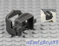 LEGO - Dark Bluish Gray Saddle w/ 2 Clips for Horse Cow or Camel Animal Castle