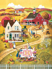 Jigsaw Puzzle Americana Quilts Down Home Quilting Bee 500 pieces NEW Made in USA