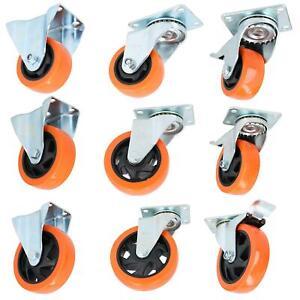 """2"""" 3"""" 4"""" 5"""" PVC Trolley Castor Wheels Fixed Swivel Swivel With Brake Furniture"""