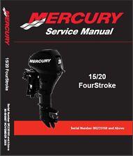 Mercury / Mariner 15 - 20 FourStroke Outboard Motor Service Repair Manual CD