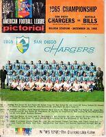 1965 AFL Football Championship program, San Diego Chargers vs. Buffalo Bills ~Pr