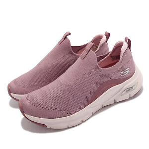 Skechers Arch Fit-Keep It Up Pink Beige Women Casual Lifestyle Shoes 149415-MVE