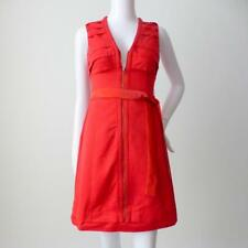 CUE Women's Dress Size 6 US 2 Red Sleeveless Zip Front Sheath Made in Australia