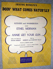 1946 DOIN' WHAT COMES NATUR'LLY Sheet Music Annie Get Your Gun IRVING BERLIN