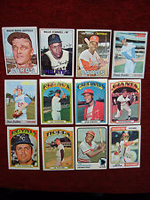 12 DIFFERENT BASEBALL SUPER STARS FROM 1967-73 - ALL TOPPS - NICE GROUP