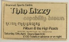 THIN LIZZY vintage concert ad, flyer, poster Keith Christmas Kilburn & High Road
