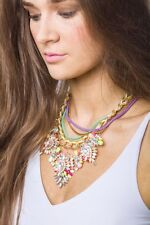 Statement Necklace Tropical Flower Multi Chained Necklace Pendant Fashion Style