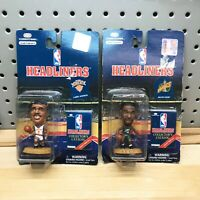 Larry Johnson & Shawn Kemp 1997 Corinthian Headliners Basketball Figures NIP NBA