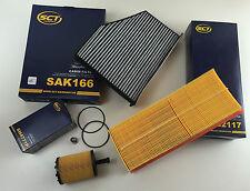 SCT GERMANY FILTRO Set Filtro dell'Olio Filtro Aria Carbone attivo ablassch. a3 8p1 2.0 TDI
