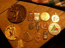 Set Of 14 Medals And Other, Reward Sportive Old