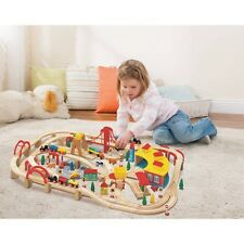 145-Piece Wooden Train Track Set Holiday Christmas Gift Kids Play Thomas Friends