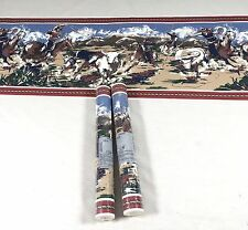 Western Wallpaper Border Rodeo Cowboy Horse Ranch Steer Roping Riders 2 Rolls