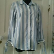Banana Republic Ladies Fitted Blouse/Shirt Size 6 Tie Sleeves