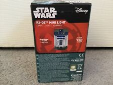 STAR WARS GREY R2 D2 MINI LIGHT -MAKES OFFICIAL SOUNDS! CYLINDRICAL SHAPE- BNWT