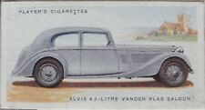 No.2 ALVIS 4.3 LTR VANDEN PLAS SALOON - MOTOR CARS 2nd SERIES - Player 1937