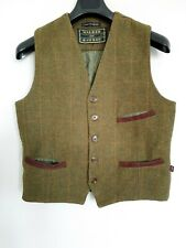 WALKER and HAWKES Mens Scottish Tweed Wool Gilet Bodywarmer Waistcoat England M