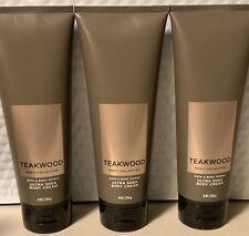 Bath & Body Works Men's Teakwood Ultra Shea Body Cream set of 3