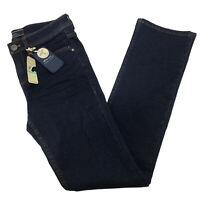 Tommy Bahama Camden Women MidRise Straight Leg Dark Wash Stretch Jeans Sz 8 $128