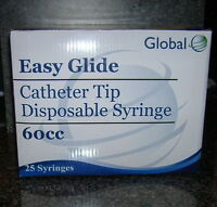 50-60cc 2oz CATHETER TIP Easy Glide SYRINGES 60mL NEW!! SYRINGE ONLY NO NEEDLE