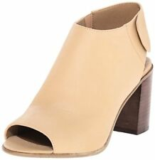 929cbeaf8b7 Steve Madden Womens Nonstp PEEP Toe Ankle Bootie Natural Leather Size 7.5